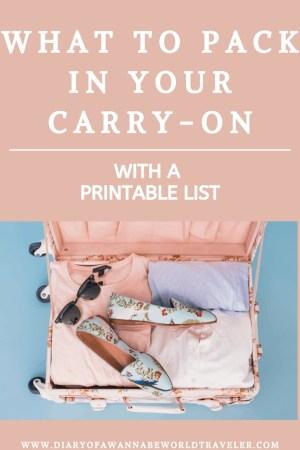 carry on list