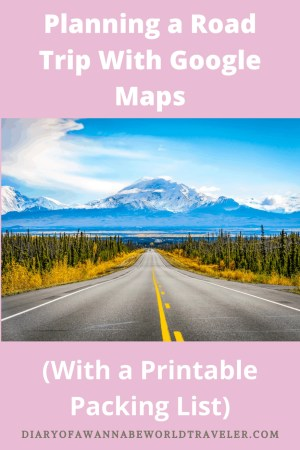 Planning a road trip with Google Maps Pin