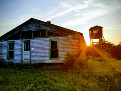 Sunset behind the old Homeplace