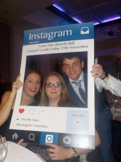 Sinead Colreavy with Sarah Keane and David McAuliffe,