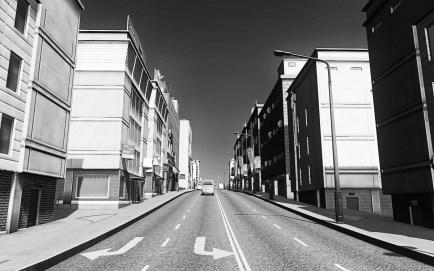 Cities Skylines Screenshot Black and White