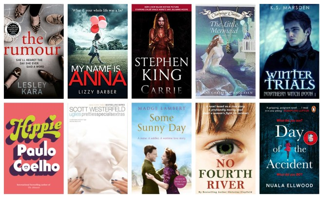 November book wrap up books book blog diary of difference hippie paulo coelho the rumour lesley kara my name is anna lizzy barber carrie stephen king the little mermaid hans christian andersen winter trials k. s. marsden uglies scott westerfeld some sunny day madge lambert no fourth river christine clayfield day of the accident nuala ellwood netgalley goodreads penguin house uk