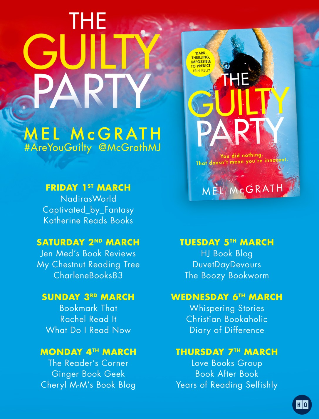 the guilty party blog tour mel mcgrath are you guilty areyouguilty diaryofdifference book review blog blogging