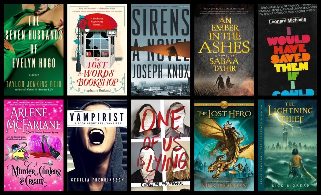 down the tbr hole post book books blog blogging book review evelyn hugo vampirist rick riordan sabaa tahir