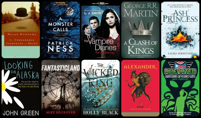 down the tbr hole the vapire diaries l. j. smith a clash of kings game of thrones george r. r. martin ash princess the wicked king holly black looking for alaska alexander the great book books blogging blog