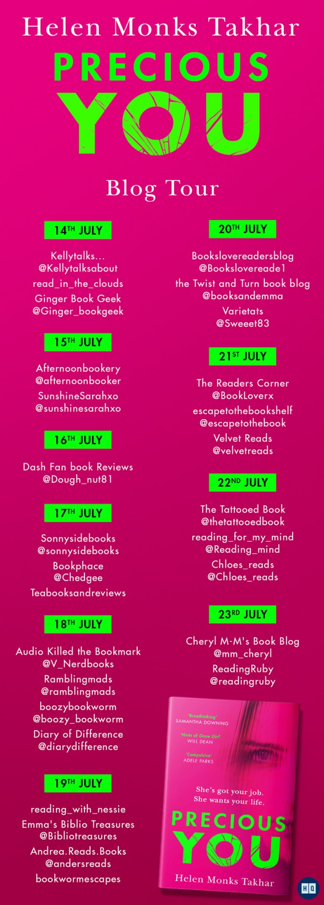 Precious You by Helen Monks Takhar Blog Tour HQ book review books blog blogging diaryofdifference diary of difference