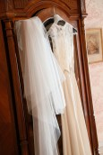 Bridal veil and wedding dress from Folkster Theia by Don O'Neill
