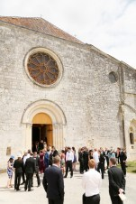 Guide to getting married in France guests waiting outside church
