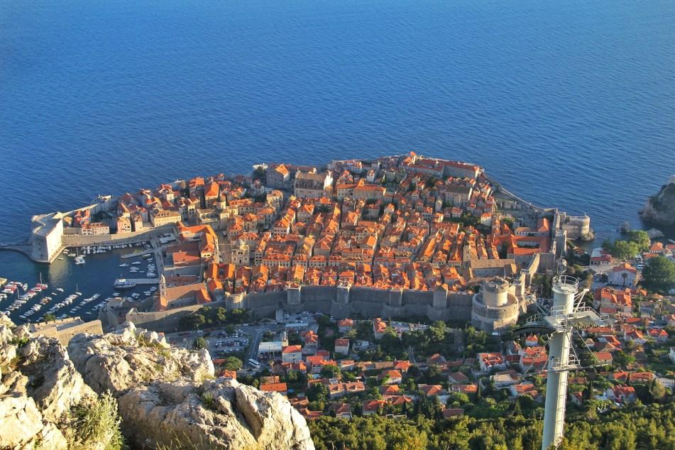 Dubrovnik bird's eye view