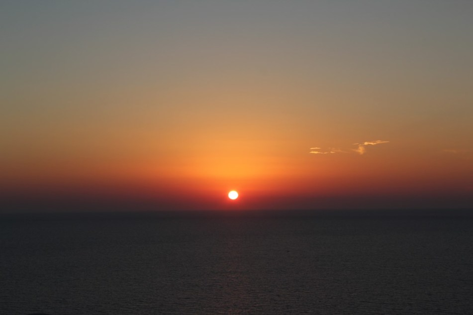 sunset at Akrotiri lighthouse Santorini