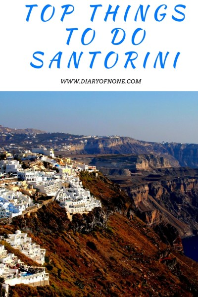 TOP THINGS TO DO SANTORINI