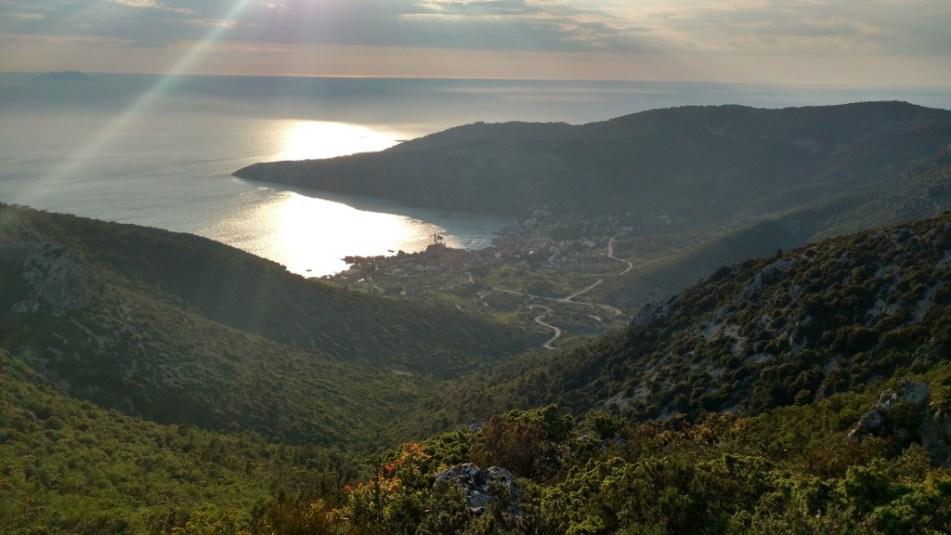 sunset Sveti Duh Vis island Croatia