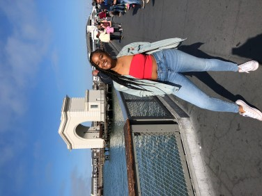 At the pier