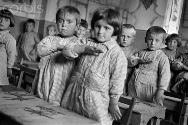 Schoolchildren Saluting