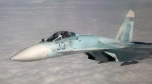 Një avion Su-27 e forcës ajrore të Federatës së Rusisë.(Photo by Mary Kavanagh, Canadian Forces Artist Program/Released)