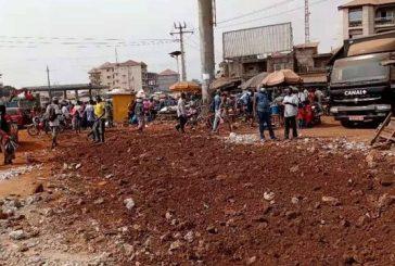 Construction échangeur de Kagbélen: début des travaux de démolition des emprises