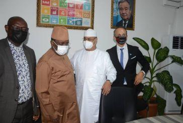 Guinée : Sidya Touré a rencontré le Représentant Spécial du SG des Nations Unies pour l'Afrique de l'Ouest