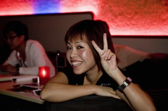 Shuk-Wah Chung, short punky looking Asian-Australian girl.