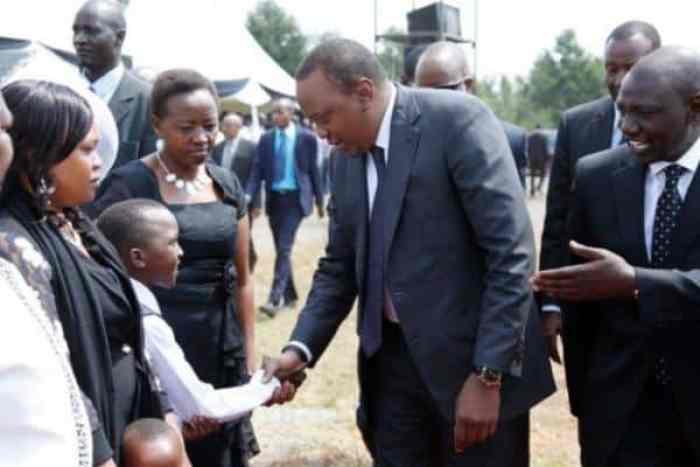 Uhuru at Korir's burial