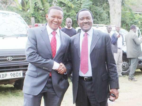 Machakos Governor Alfred Mutua with Wiper leader Kalonzo Musyoka at a past event. /FILE