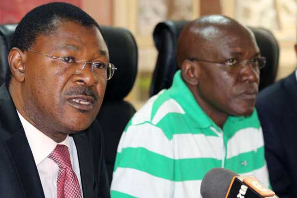 Ford-Kenya leader Moses Wetang'ula with
