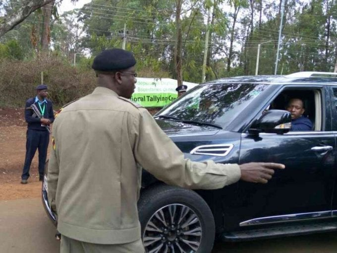 Nairobi Governor-elect Mike Sonko at the Bomas of Kenya entrance in a convoy of 10 vehicles, August 11, 2107. /SAMUEL KISIKA