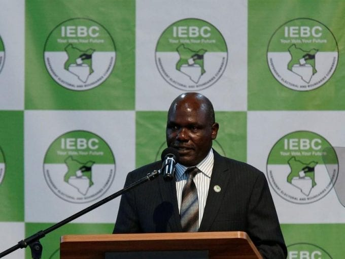 IEBC chairman Wafula Chebukati during a news conference ahead of the announcement of the presidential winner at the Bomas of Kenya, Nairobi, on Friday /REUTERS
