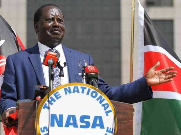 A file photo of NASA chief Raila during a press conference in Nairobi, June 7, 2017. /JACK OWUOR