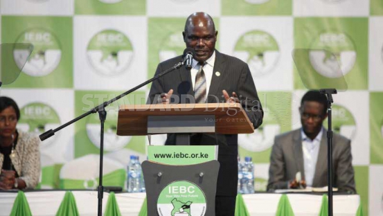 Image result for Chebukati announces Ezra Chiloba will oversee repeat presidential election