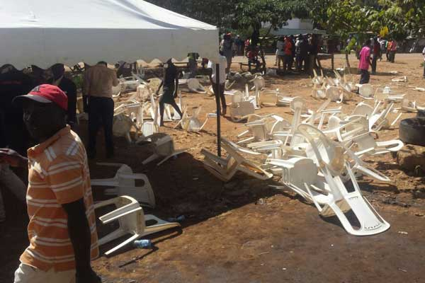 Chaos erupted at an ODM meeting in Migori Town
