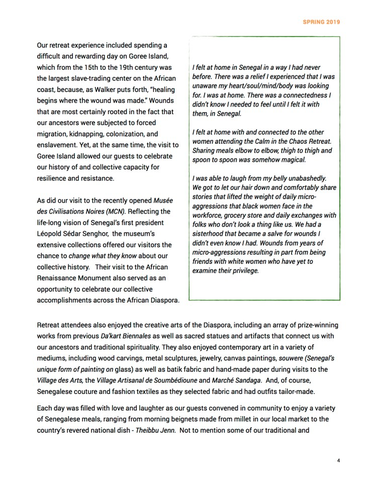 Newsletter Spring 2019 Page 4