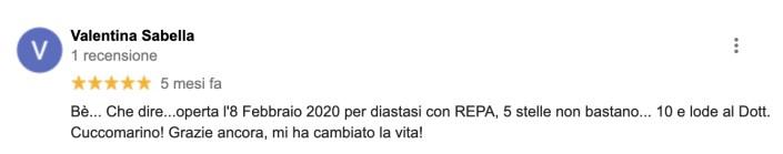 REPA, diastasi dei retti, Cuccomarino