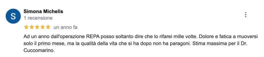 REPA, diastasi dei retti, Dr. Cuccomarino