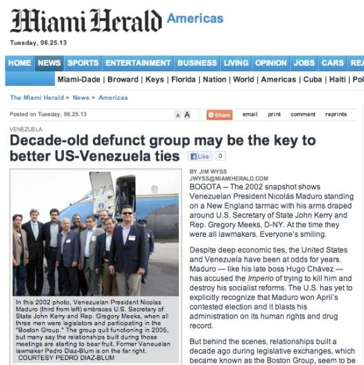 Miami Herald 25/06/13 Grupo Boston
