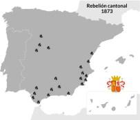 En 1873, durante la fugaz Primera República, una serie de ciudades del sur y Levante se levantaron contra el Gobierno formando cantones independientes. Era la otra cara del carlismo.
