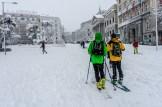 Dos esquiadores en la carrera de San Jerónimo