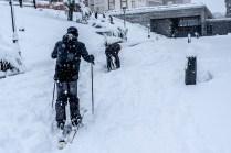 Acceso a la ampliación del Prado tomado por los esquiadores
