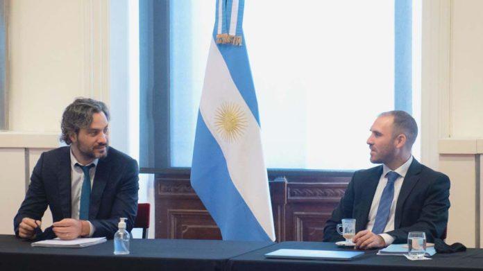 El jefe de Gabinete, Santiago Cafiero y el ministro de Economía, Martín Guzman