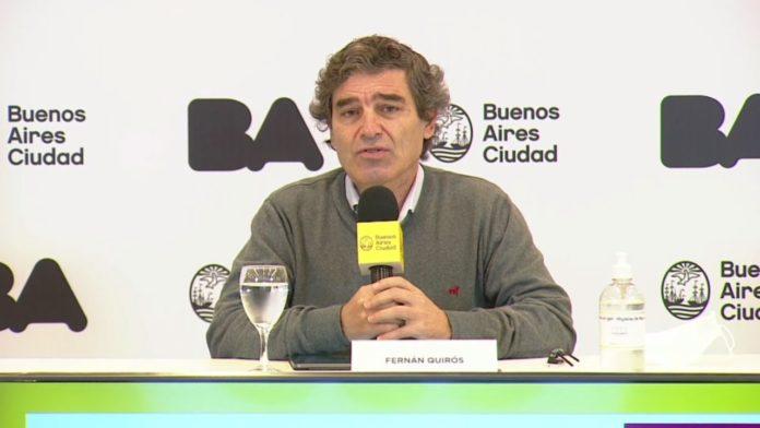 El ministro de Salud porteño, Fernán Quirós