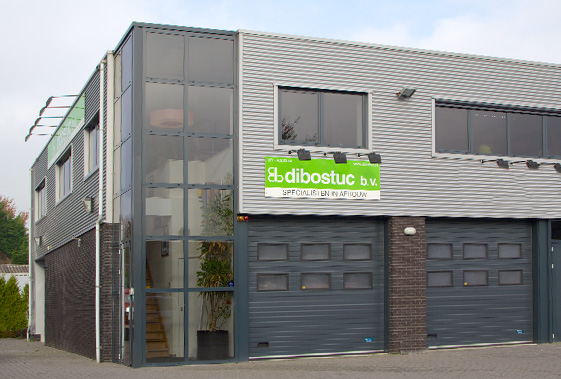 Het bedrijfspad met showroom van Dibostuc in Oegstgeest.