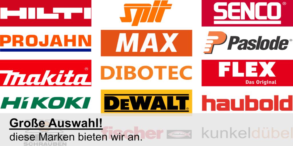Diese Marken bieten wir an.