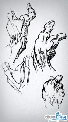 Dibujar manos para el Desafío 52