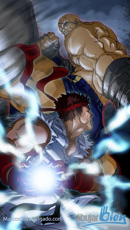 Ryu Vs Sagat SpeedPaint. Desafío 52