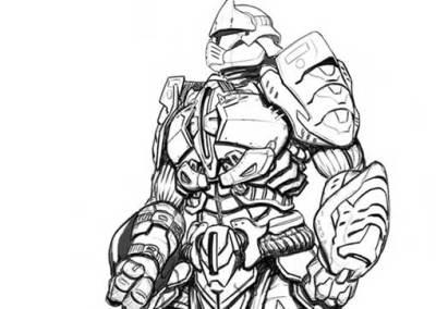 Diseño de personaje: Caballero de Egara