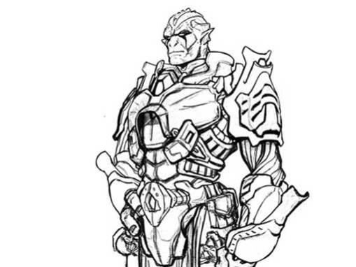 Diseño de personaje: Soldado de Egara