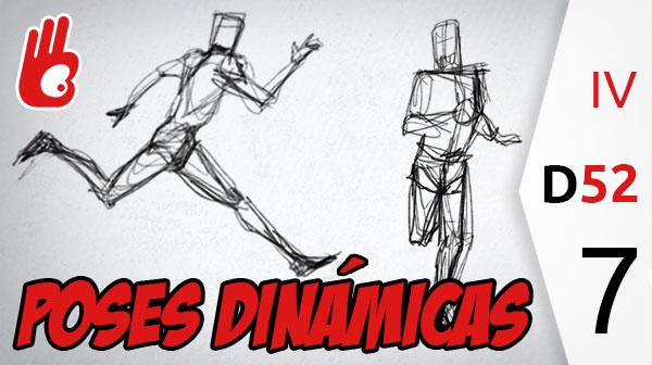 Truco para aprender a dibujar personas: La línea de movimiento