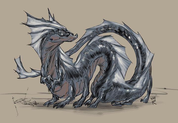 El truco de dibujar bien está en la práctica #Desafio52 Dragón de agua