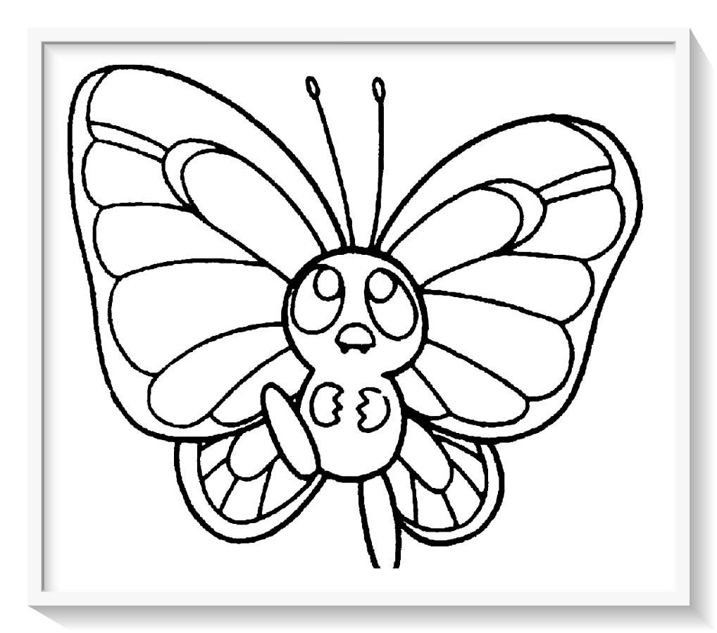 Dibujos De Mariposas Para Colorear On Log Wall