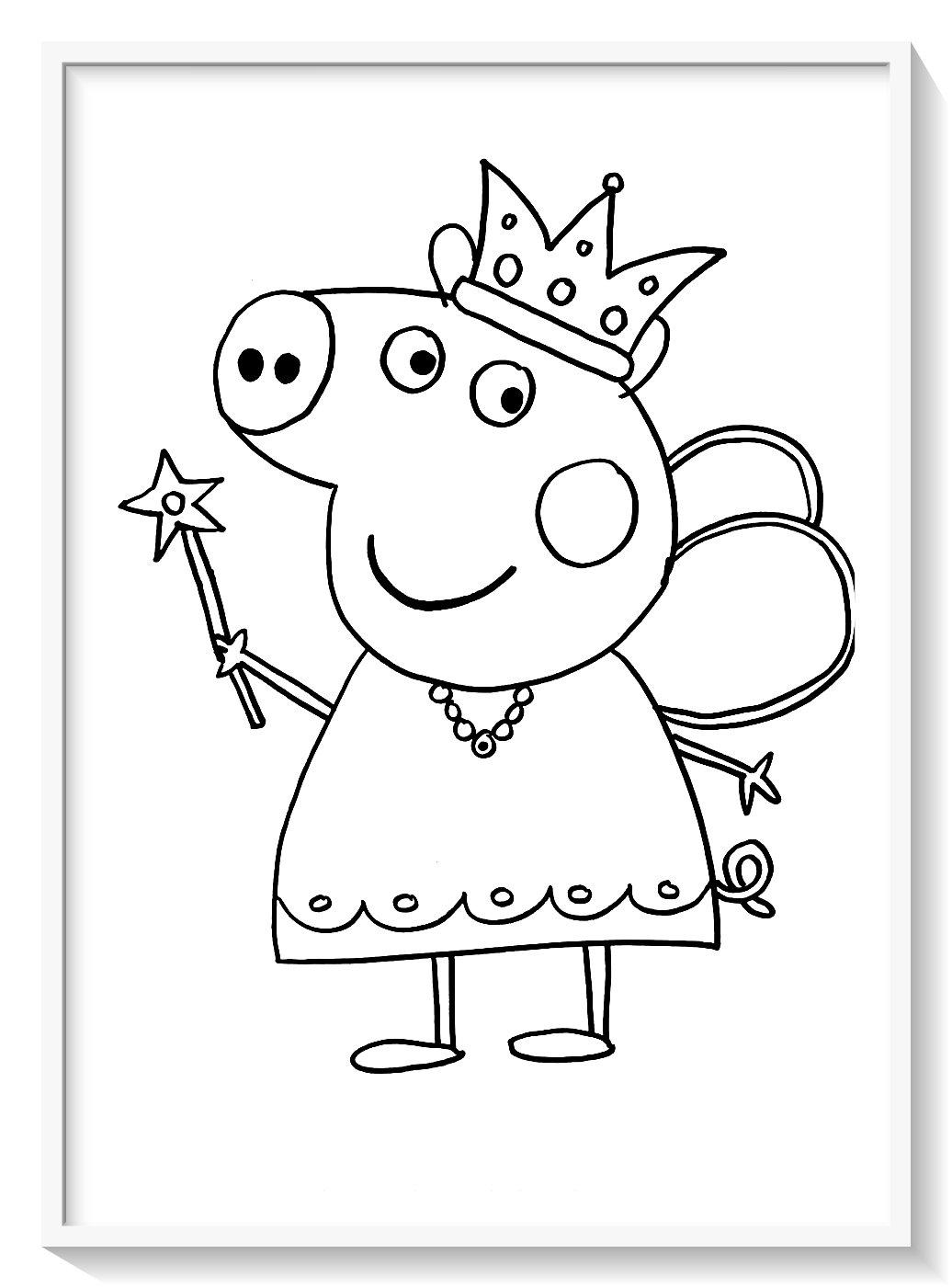 Peppa Pig Para Colorear Biblioteca De Imagenes Online