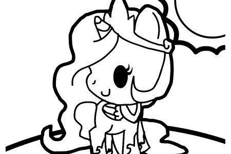 Imagenes De Dibujos De Unicornios Kawaii Para Colorear On